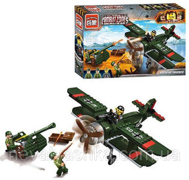 Конструктор Brick Enlighten Военная техника, Combat zone, Самолет, 187 дет., 1705, 007671