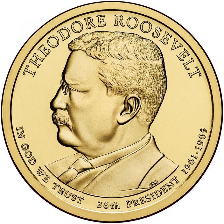 США 1 доллар 2013, 26 президент Теодор Рузвельт (1901-1909)