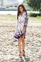 Красочное женское летнее платье  W-15