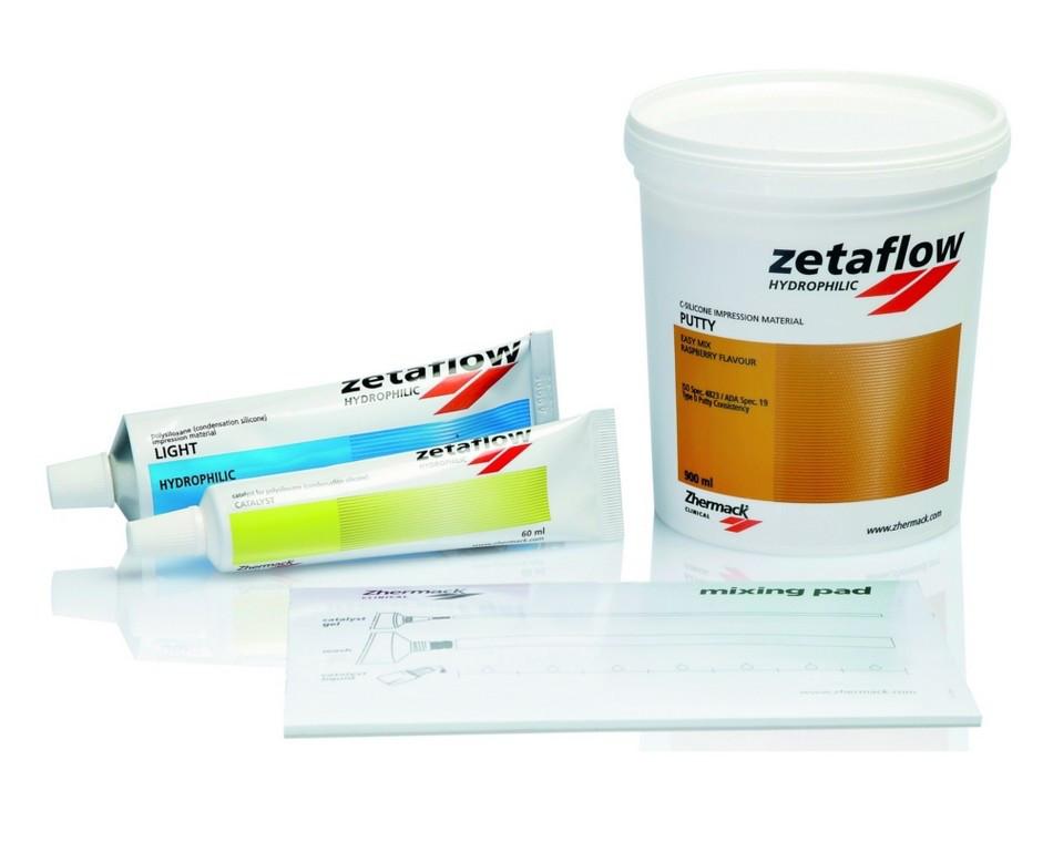 ZetaFlow Intro kit. Оттискная масса, С-силикон. Набор Зетафлоу 1,53 кг (900 мл) + Зетафлоу лайт 140 мл NaviStom