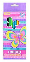 """Набор цветных карандашей трехгранных 12 шт. """"Bright butterfly"""", 290440 YES"""