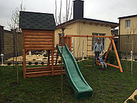 Детская игровая площадка деревянная, детский игровой комплекс из дерева п7