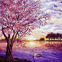 Картина по номерам AS0228 Закат в розовых тонах (40 х 40 см) ArtStory