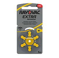Батарейки для слуховых аппаратов Rayovac EXTRA 10 (6шт)