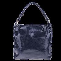 Серая кожаная женская сумка Realer (2032-1)