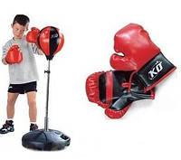 Боксерский набор, перчатки, груша на стойке