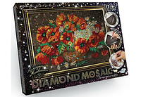 Набор для творчества Алмазная живопись Маки (DM-01-06) «DIAMOND MOSAIC»
