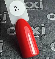 Гель-лак Oxxi (8 мл) №002 (красный, эмаль)