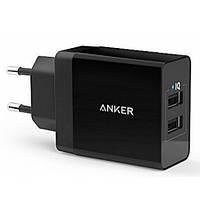 Сетевое зарядное устройство Anker Powerport2 24W/4.8A V3 (Black)