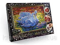 Набор для творчества Алмазная живопись Лебеди (DM-01-02) «DIAMOND MOSAIC»
