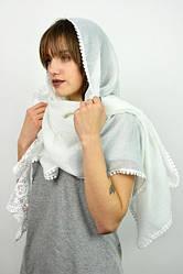 Шарф Любовь белого цвета торжественный