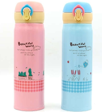 Пляшка для води-термос 450ml Beautiful World 2462