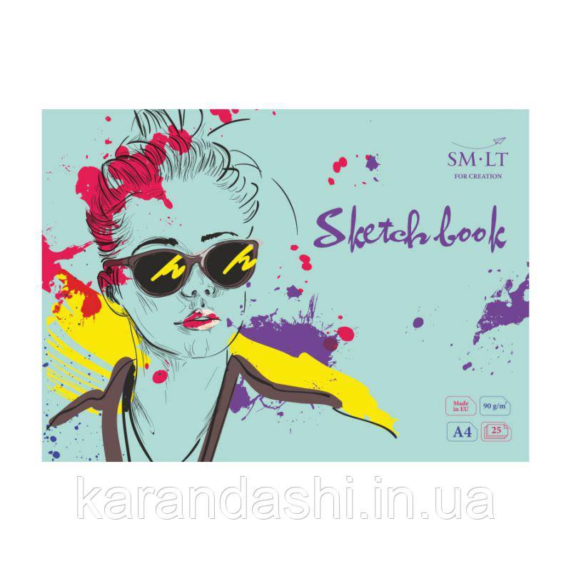 Альбом-склейка SMILTAINIS для эскизов Экстра-белая А4 90/м2 25 лист ES-25