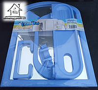 Набор для ванны с зеркалом (6 предметов) Tombo синий