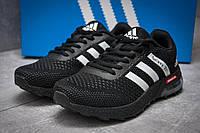 Кроссовки женские Adidas Galaxy 2017, черные (12801) размеры в наличии ► [  36 37 38 39 40 41  ](реплика), фото 1