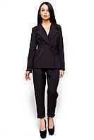 Женский костюм Karree Чикаго пиджак+брюки черный