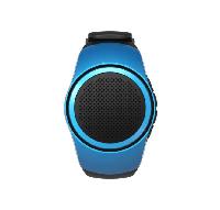 Беспроводная портативная Bluetooth колонка SUNROZ B20 Портативная Bluetooth колонка-часы, 3W Синяя (SUN0406)