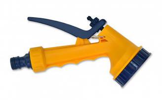 Пістолет-розпилювач 5-позиційний пластиковий з фіксатором потоку VERANO 72-005 | пластиковый plastic фиксатором blocare потока flux