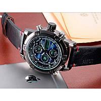 Кварцевые спортивные часы AMST (Черные, коричневые, серебристый)