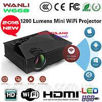 Домашний видеопроектор с WiFi Wanlixing W886200Lum, FHD 1920x1080