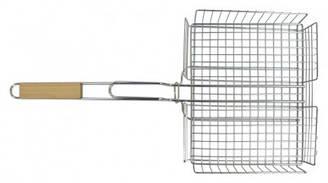 Решітка-гриль кошик 25х31см, з ручкою дерево, 56 см Sunday 73-505 | корзина ручкой