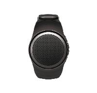 Беспроводная портативная Bluetooth колонка SUNROZ B20 Портативная Bluetooth колонка-часы, 3W Черная (SUN0407)