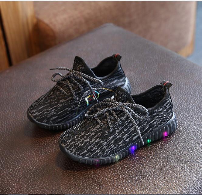 Кроссовки Тканевые с LEG-подсветкой Р.21-24 Черные — в Категории ... 52fc276b70e