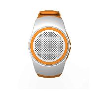 Беспроводная портативная Bluetooth колонка SUNROZ B20 Портативная Bluetooth колонка-часы, 3W Белая (SUN0408)