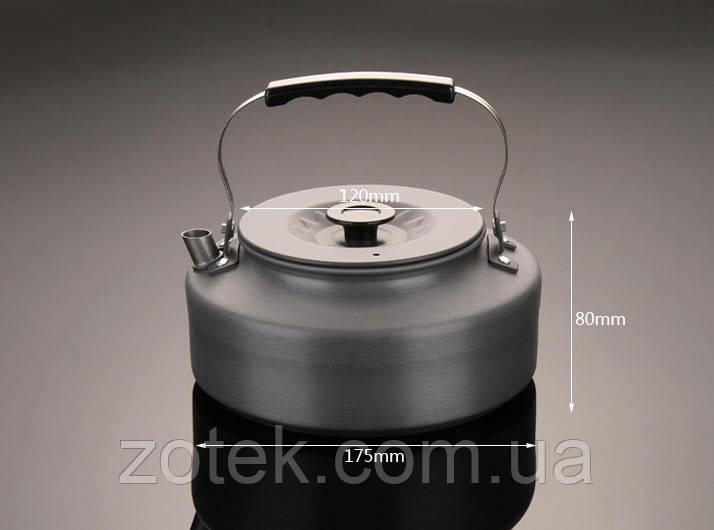 Чайник туристический походный 1,6 Литр анодированный алюминий, бакелит