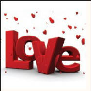 Салфетка La Fleur 3D любовь