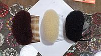 Начес для волос с гребешком чёрный
