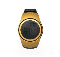 Беспроводная портативная Bluetooth колонка SUNROZ B20 Портативная Bluetooth колонка-часы, 3W Желтая (SUN0409)