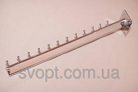 Кронштейн (Флейта) овальная настенная прямая наклонна гвоздик