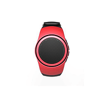 Беспроводная портативная Bluetooth колонка SUNROZ B20 Портативная Bluetooth колонка-часы, 3W Красная (SUN0410)