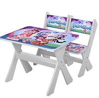"""Столик и два стульчика деревянные """"Shimmer and Shine"""" М 2100-14 ***"""