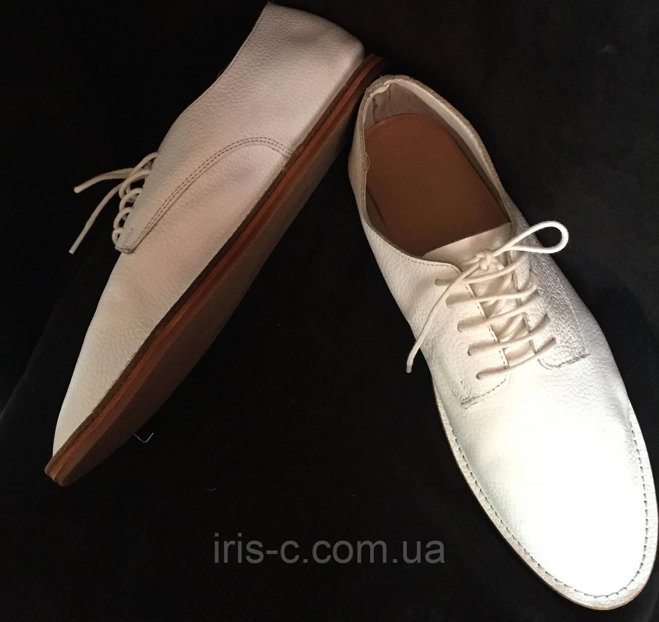 Туфли женские, ZARA, легкие, белые, натуральная кожа размер 40/40.5
