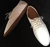Туфли женские, ZARA, легкие, белые, натуральная кожа размер 40/40.5, фото 1