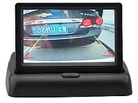 """Автомобильный раскладной монитор4,3"""" дюйма для камер заднего/переднего вида 2 видео входа"""