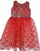 Кружевное нарядное праздничное детское платье для утренника на 5-6 лет