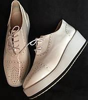 Туфли женские, белые, очень большой размер, лакированная искусственная кожа размер, 42, фото 1