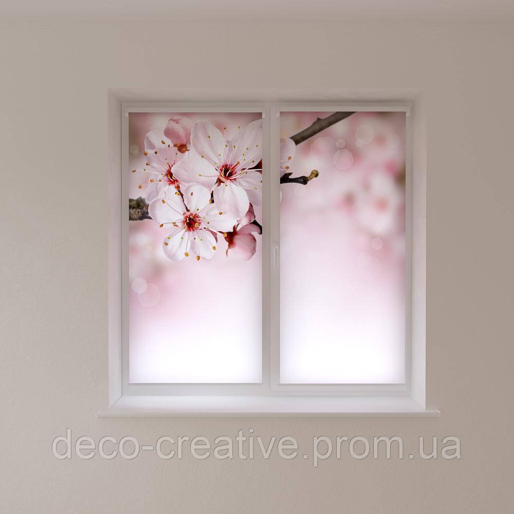 Рулонные шторы с печатью фото сакура