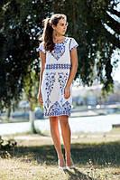 Хлопковое летнее платье с узором W-08