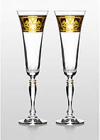 Набор бокалов для шампанского Bohemia Victoria Rene 2 шт. Свадебные бокалы