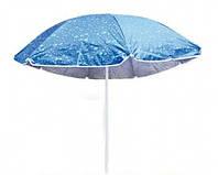 Торговый зонт однотонный с наклоном     (серебро, спица - пластик)