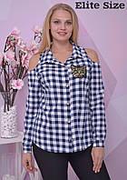 Рубашка из штапеля с нашивкой из пайетки Производитель ТМ Elite Size Прямой поставщик Официальный сайт 44-50, фото 1