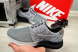 Подростковые джинсовые кроссовки Nike Серая сетка 10881 р. 36 37 38 39