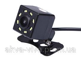 Камера заднего вида  в авто Кубик на 8 диодов