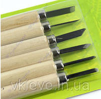 Набор инструментов для резьбы по дереву (6 шт).