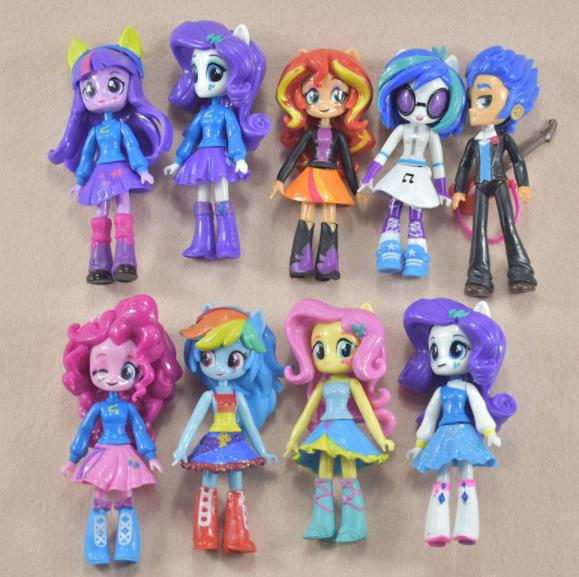 Набор My little pony 9 шт. Equestria girls minis Моя маленькая пони