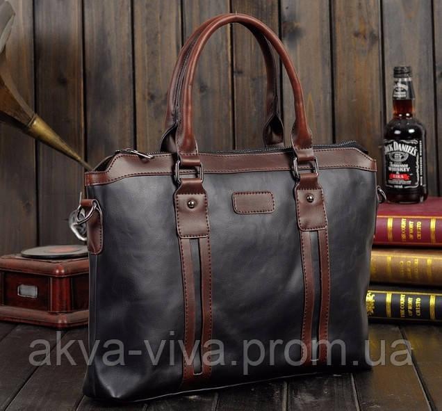 Стильная мужская сумка из PU кожи